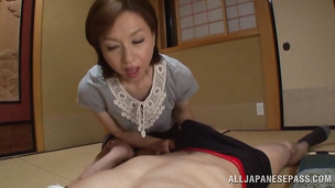 Magnificent lady Kumi Kanzaki enjoys riding a slim jim extremely wild and hard