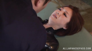 Stranger licks alluring clean shaved hole and then fucks girl Ai Haneda hard